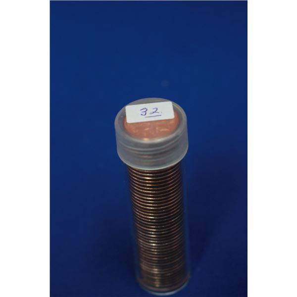 Canada One Cent Coins (50) - Roll; 1960