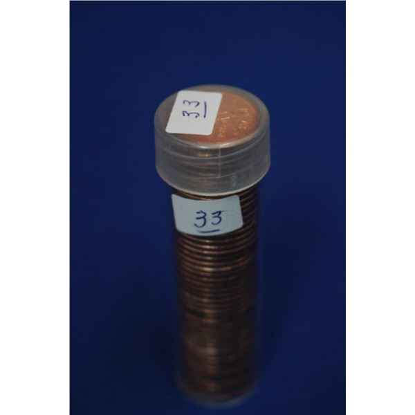 Canada One Cent Coins (50) - Roll; 1959