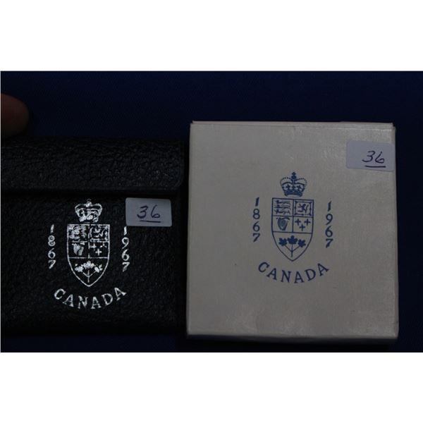 Canada Medallion; 1 oz. Pure Silver; Proof; 1967 *No GST