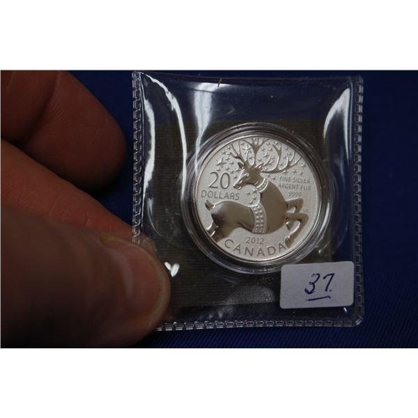 Canada Twenty Dollar Coin (1) - 2012; 99.9% Silver *No GST*