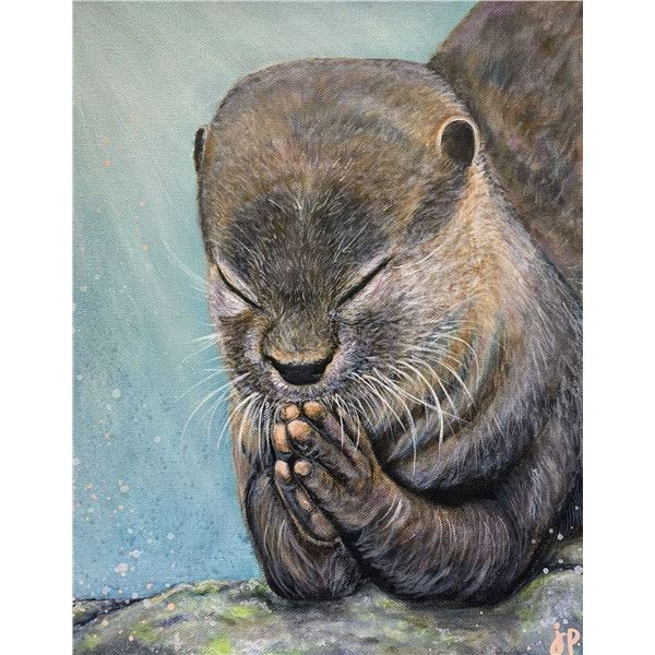 """Gratitude"" Otter Painting by Jacey Peterson"