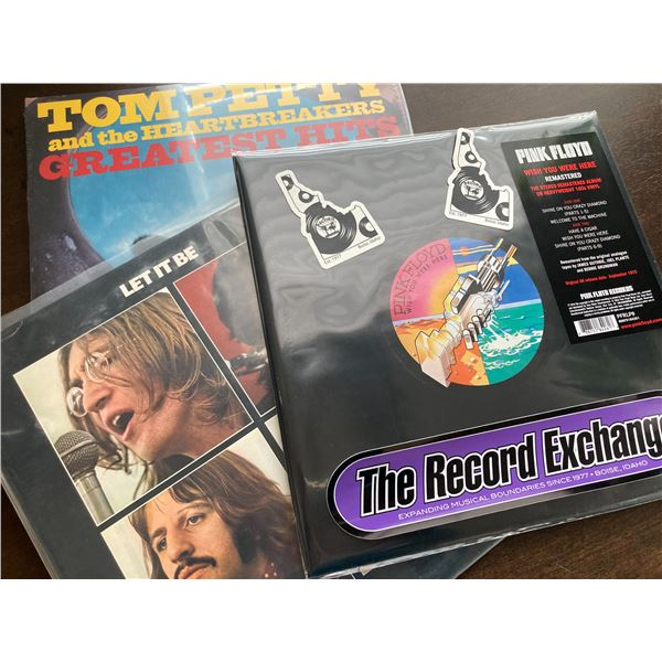 Three classic vinyl records