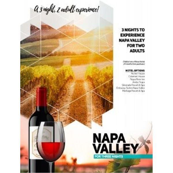 Napa Trip 2 Adults 3 Nights