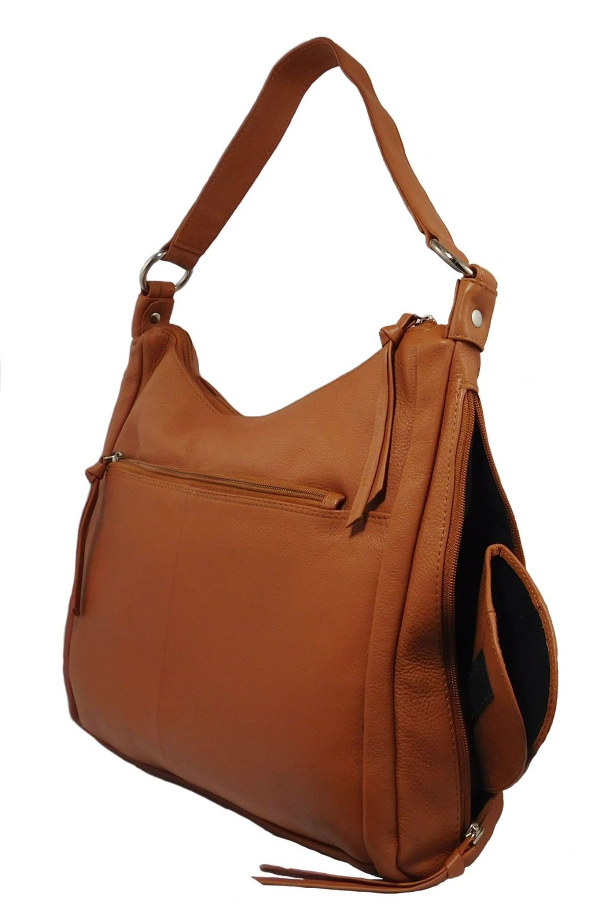 Paul & Taylor Ladies Leather Concealed Carry Purse (Camel)
