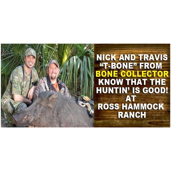Wild Hog Hunt for  4 Hunters at  Ross Hammock Ranch (Valued at $2,159.)