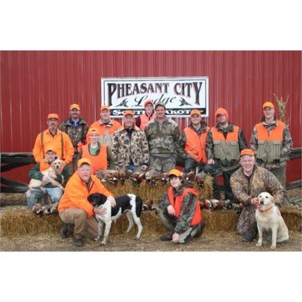 Pheasant Hunt at Pheasant City South Dakota Valued at $ 3,165.00