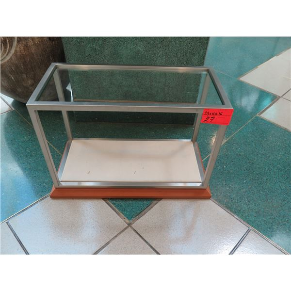 """Display Case w/ Removable Glass Panel on Top (No Glass on Sides) 23"""" x 11"""" x 16H"""