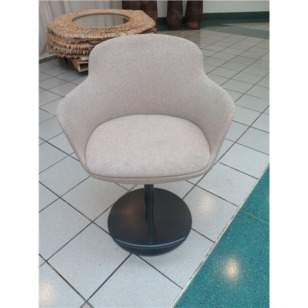 """Upholstered Swivel Chair with Pedestal Base, Adjustable Height, 25"""" x 18"""" x 36""""H"""