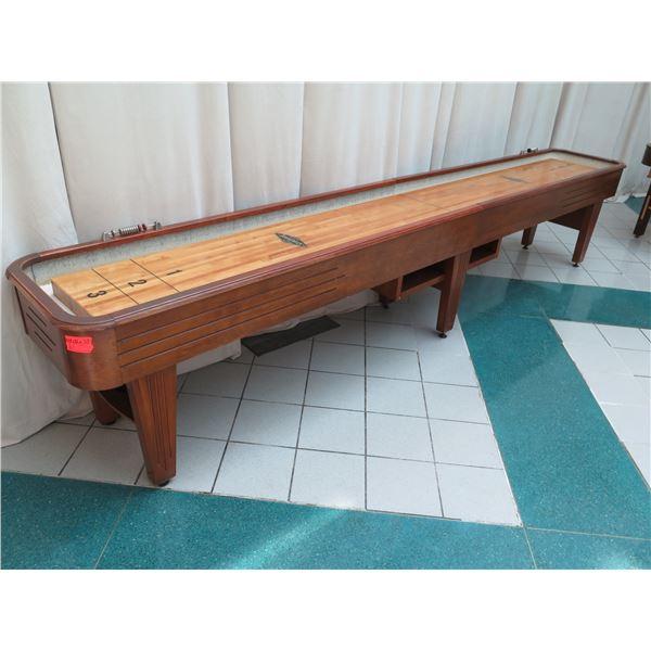 "Brunswick Shuffleboard Table 172""L x 26""W x 33""H (pucks not included)"