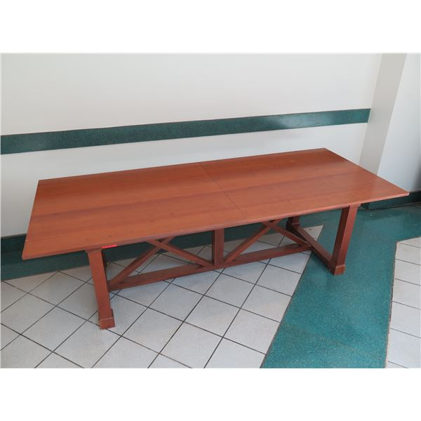 """Large Wooden Dining Table 102"""" x 42"""" x 30""""H"""