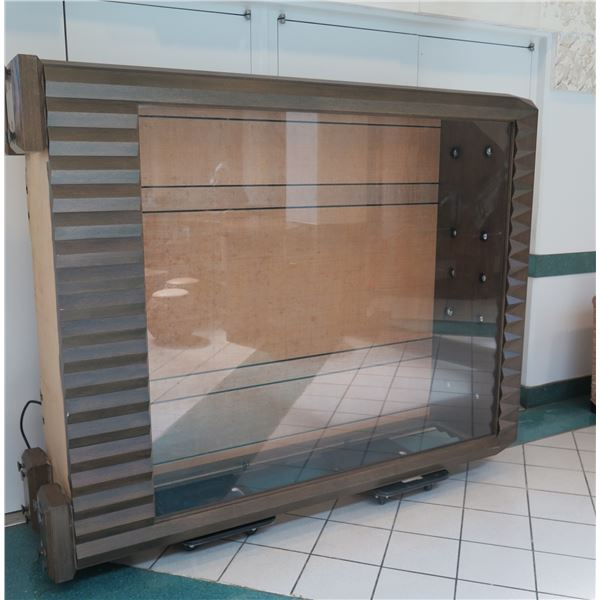 """Very Tall, Large Display Case, Approx. 72""""W x 24""""D x 96"""" Tall (picture shows it laying on its side)"""