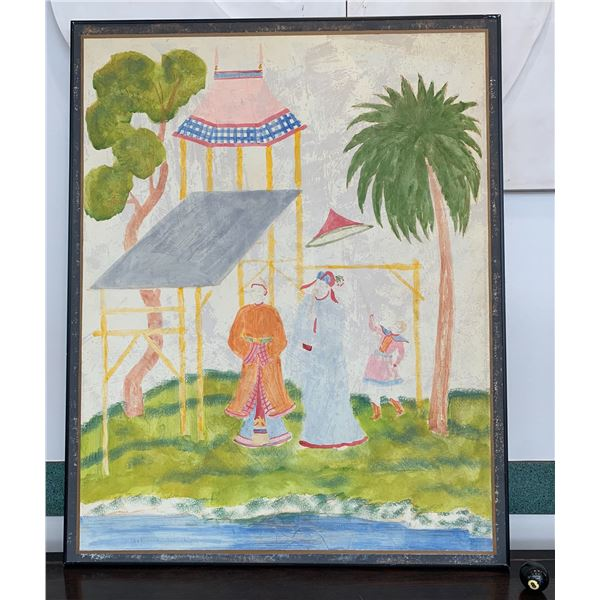 "Large Framed Canvas Art, Reproduction, 40"" x 49.5"", Coated Aluminum Frame"