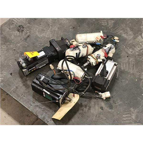 LOT OF MISC. SMALL SERVO MOTORS *PART #'S PICTURED*