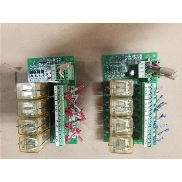 LOT OF RELAY BOARDS *SEE PICS FOR DETAILS* (BRAND UNKNOWN)