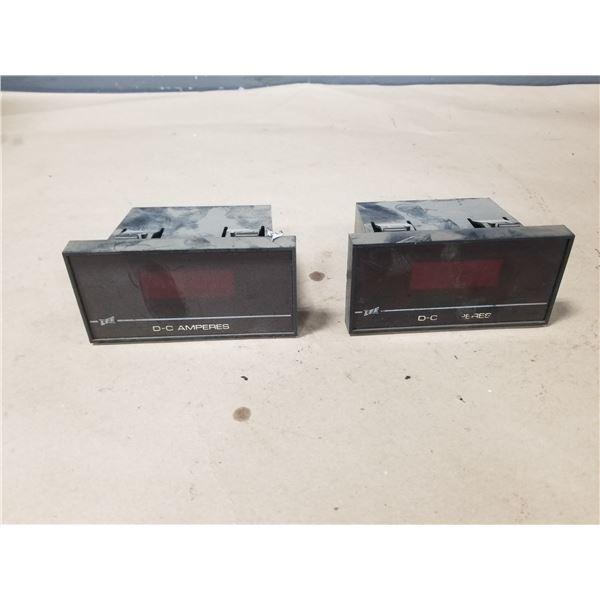 (2) LFE CA47500000 DC AMPERES DISPLAY MODULE