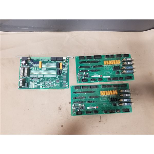 LOT OF MISC NACHI CIRCUIT BOARDS *SEE PICS FOR PART #S*