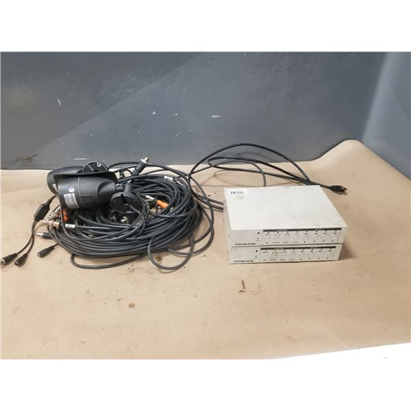 LOT OF SECURITY CAMERAS & CONTROL INTERFACE *SEE PICS FOR DETAILS*