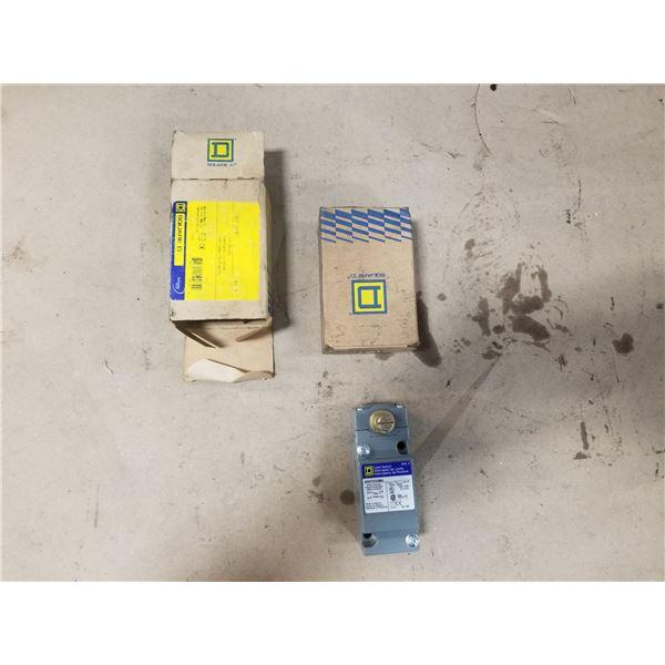 (2) SQUARE D 9007C54B2 LIMIT SWITCH