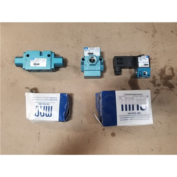 LOT OF MISC MAC VALVES *SEE PICS FOR DETAILS*