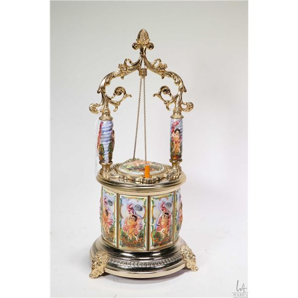 Vintage Italian made Brevettato Capodimonte musical cigarette carousel, working at time of catalogui