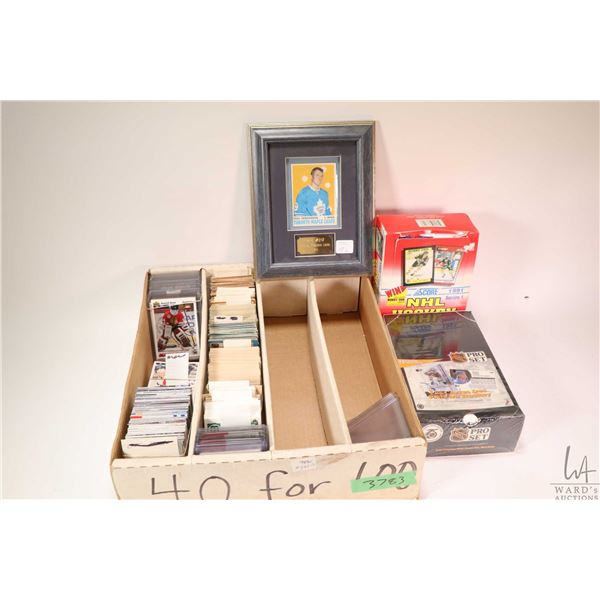 Selection of vintage hockey cards- pre 1971-1994 plus two unopened pack boxes of hockey cards includ