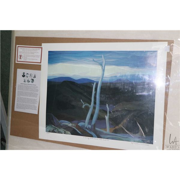 "Two unframed limited edition Group of Seven prints including ""Evening, North shore, Lake Superior"" b"