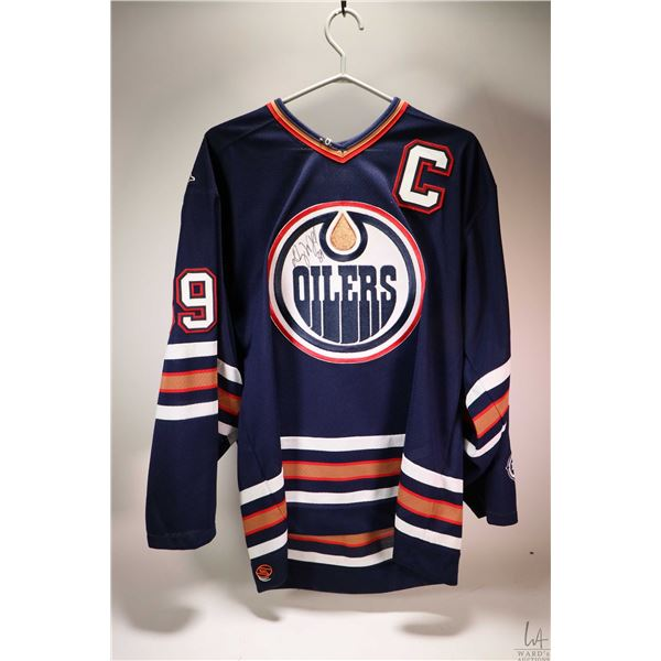 Signed autograph Doug Weight Edmonton Oiler's hockey jersey