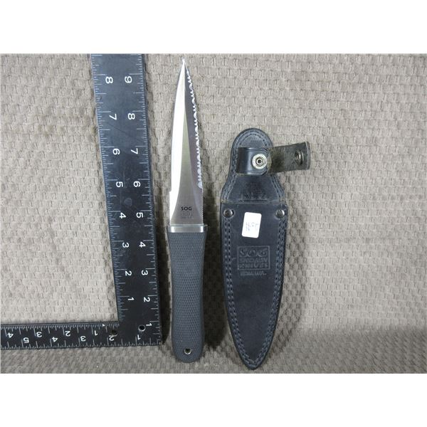 SOG Specialty Dagger with Leather Sheath