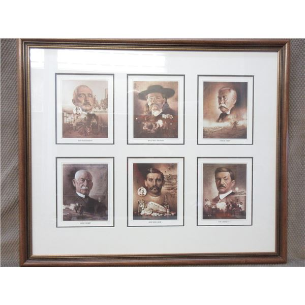 The Gunfighters: Lawmen of the Old West Framed Picture