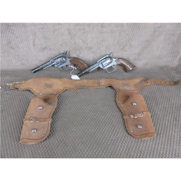Pony Boy 2 Cap Guns & Double Set Holsters