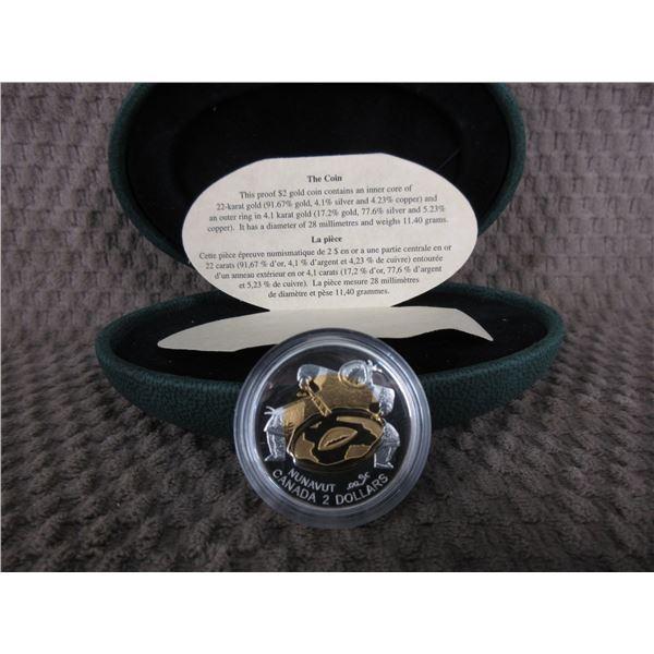 1999 Nunavut Gold $2 Coin