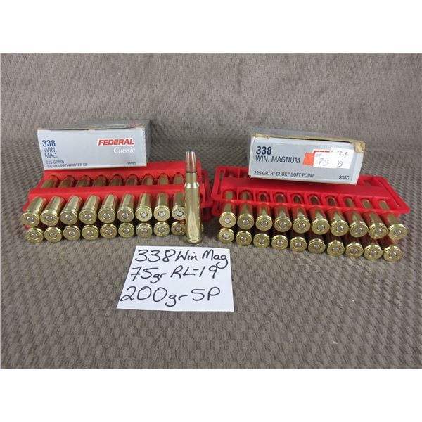 338 Win Mag 2 Boxes of 20 Rnds - Reloads sold as componets