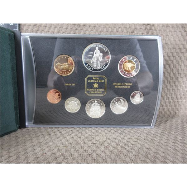 1998 - 8 Coin Proof Set with RCMP Coin