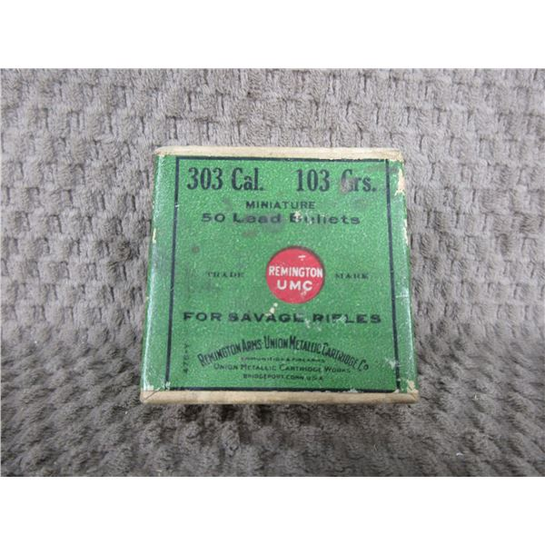 303 Cal. 103 Grs. 50 Lead Bullets in UMC Collector Box