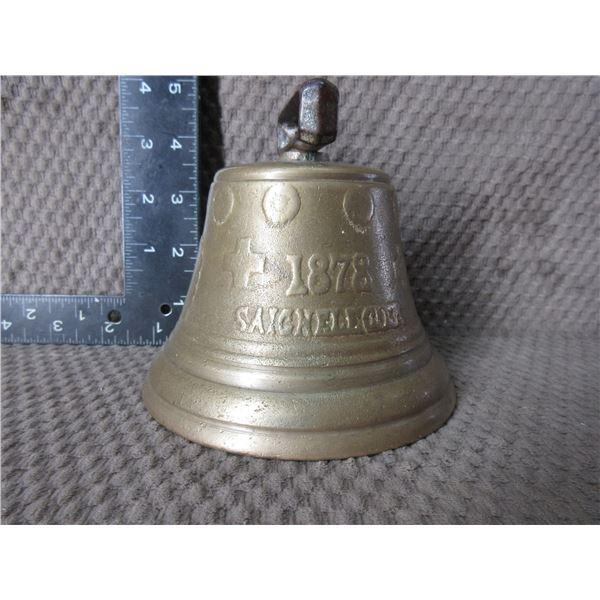 "Swiss Cow Bell 1878 Saignelegier Chiantel Fondeur 4 7/8"""