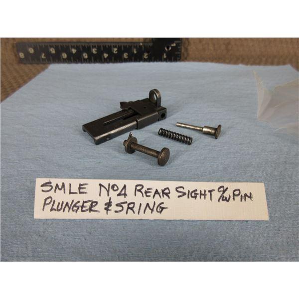 SMLE No 4 Rear Sight C/W Pin, Plunger & Spring
