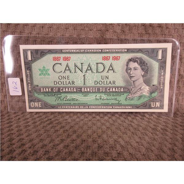 1867 1967 Canadian Centenial Dollar