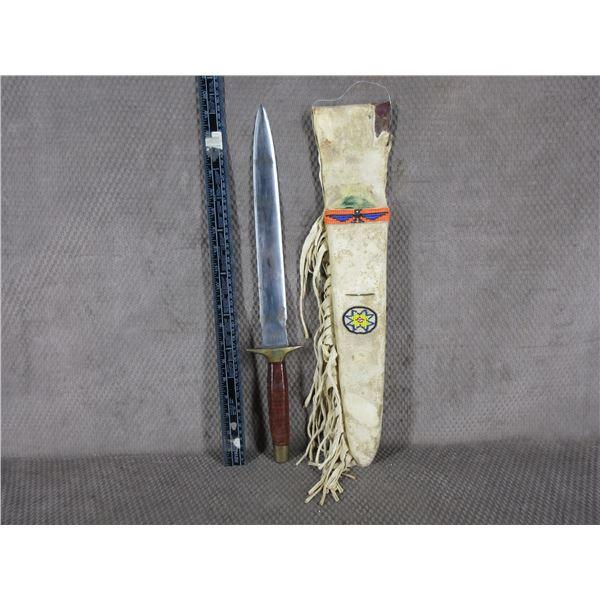 Native American Indigenous made Knife & Sheath