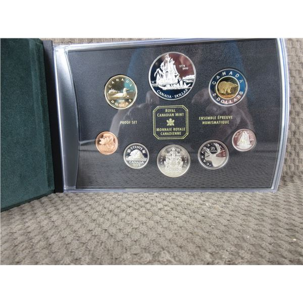 1999 - 8 Coin Proof Set with Voyage of Juan Perez Coin