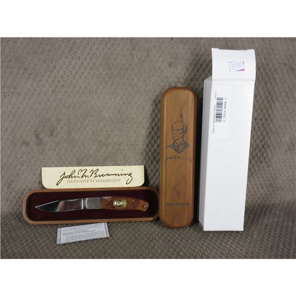 John M. Browning Knife 1 of 6000 in Wood Case