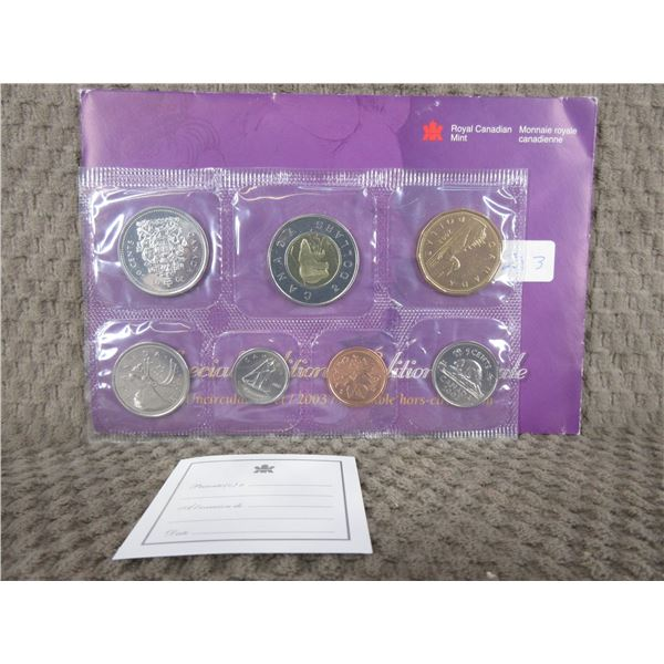2003 Uncirculated Canadian 7 Coin Set