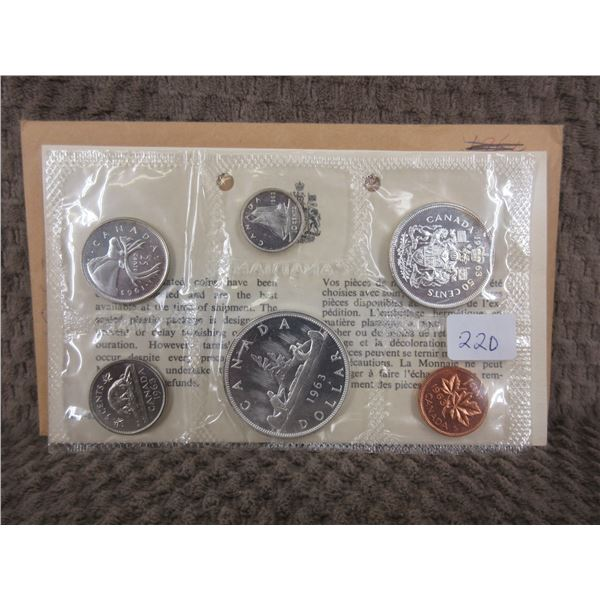 1963 Uncirculated Canadian 6 Coin Set
