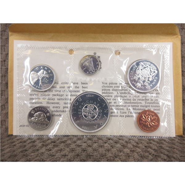 1964 Uncirculated Canadian 6 Coin Set