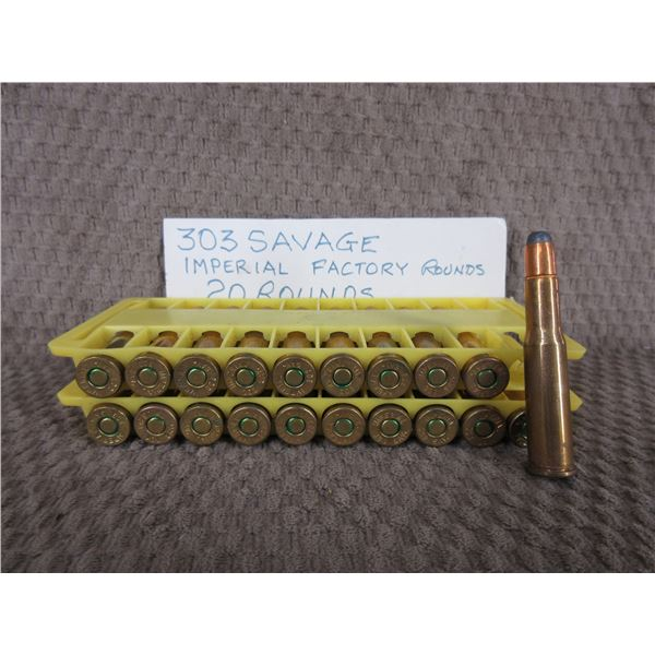 303 Savage Imperial Factory 20 Rounds No Box