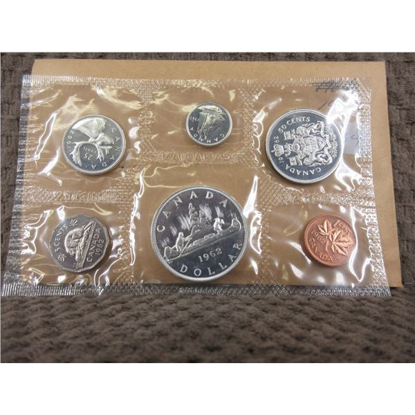 1962 Uncirculated Canadian 6 Coin Set