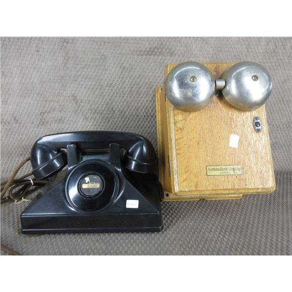 1920's or 30's Northern Electric Two Piece Telephone Set