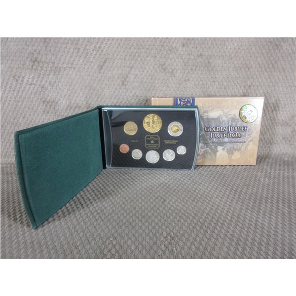 2002 - 8 Coin Proof Set with Golden Jubilee Coin