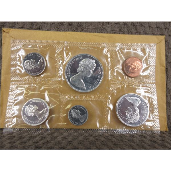 1966 Uncirculated Canadian 6 Coin Set