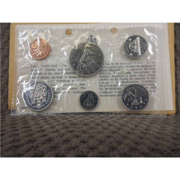 1969 Uncirculated Canadian 6 Coin Set
