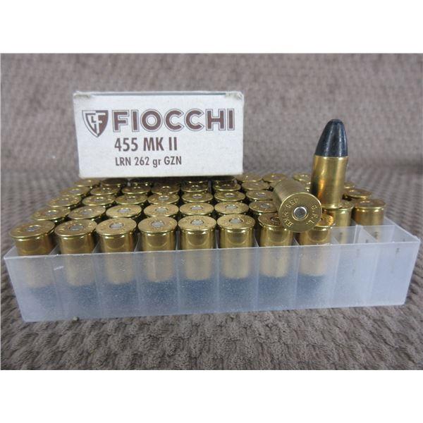 455 Webley MK II Fiocchi Box of 50 LRN 262 gr GZN